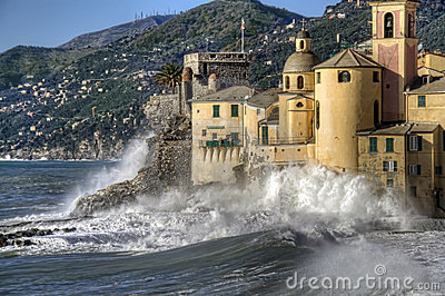Rough seas in Camogli