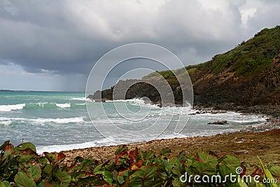 Rough seas in Puerto Rica