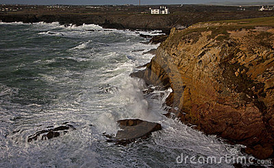 Rough seas at Rhoscolyn Headland