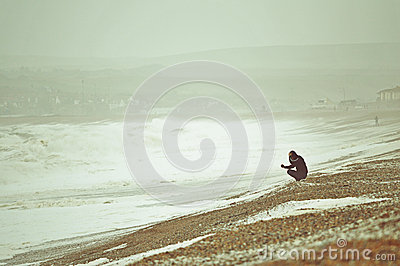 Rough Seas at Seaford