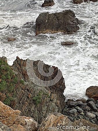 Rough seascape