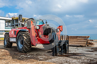 Rough terrain forklift machine telehandler