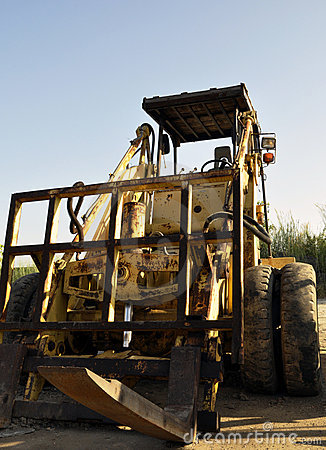 Used Rough Terrain Forklifts with blue sky