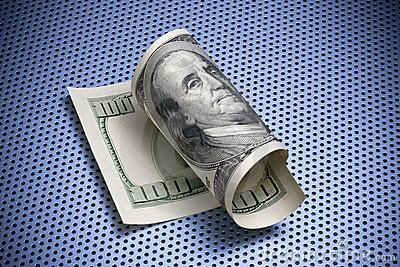 Roulé cents billet d un dollar