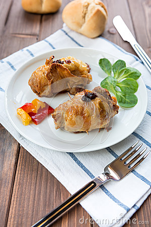 Roulade of poultry