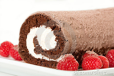Roulade with Raspberries