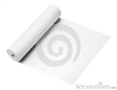 Rouleau de papier, d isolement