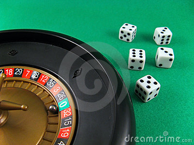 Roulette and cubes gamble