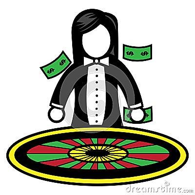 Roulette wheel dealer