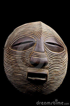 Round African mask
