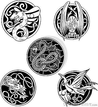 Round animal designs