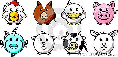Round animals 01