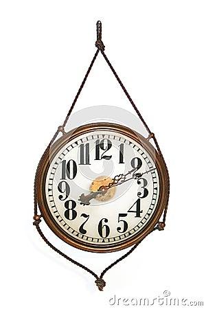 Round antique wall clock