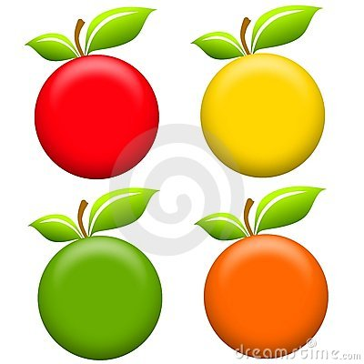 Free Round Apples Clip Art Royalty Free Stock Photo - 5306475