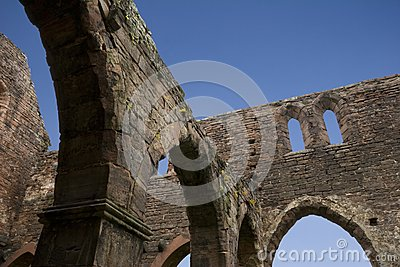 Round Arch Ruin And Blue Sky