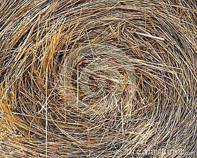Round bale straw