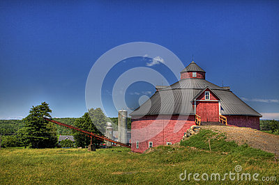 Round Barn in Farm Country