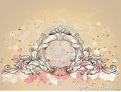 Round baroque frame