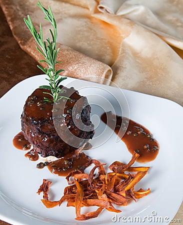 Round beef steak