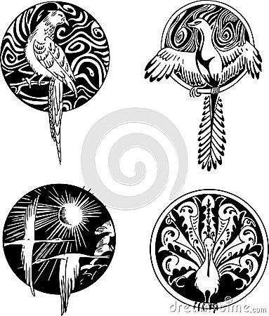 Round bird designs