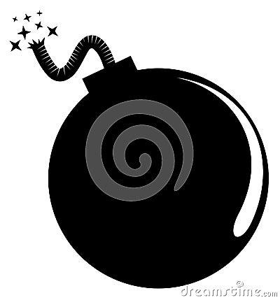 Round black bomb