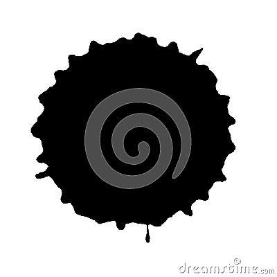 Free Round Black Ink Blot Royalty Free Stock Photo - 35209765