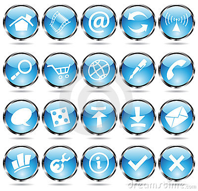 Round blue icons