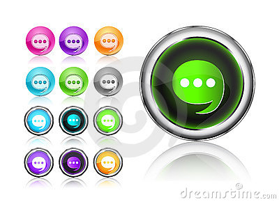 Round Chat Icon Set
