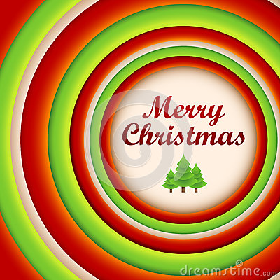 Round christmas background and greeting card.