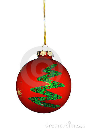 Round Christmas Tree Ornament Stock Photo