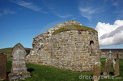 Round church at Orphir, Orkney, Scotland