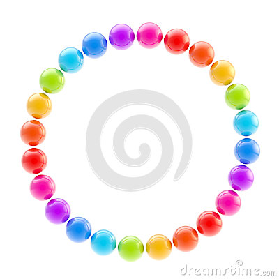Round circle colorful frame isolated