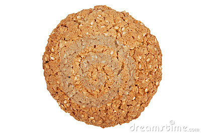 Round cookies with sesame seeds
