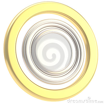 Round copyspase circular plate isolated