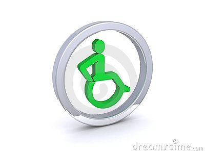 Round disability symbol