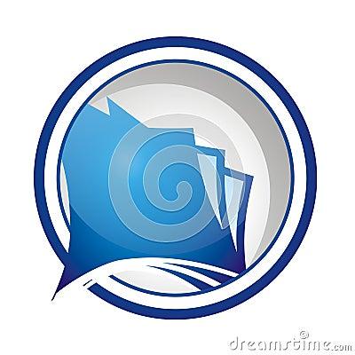Round Document Icon or Logo