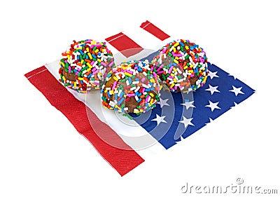 Round Donuts on Napkin