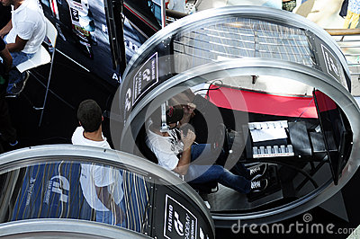 Round Driving Simulator - GT Academy, PlayStation Editorial Stock Photo