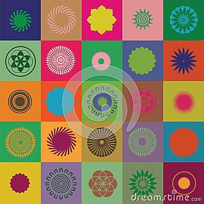 Round elements and symbols