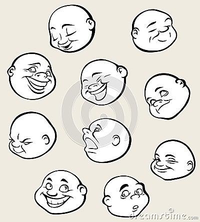 Round faces