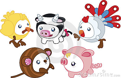 Round Farm Animals