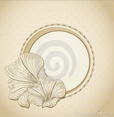 Round the festive frame with flowers