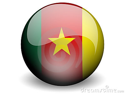 Round Flag of Cameroon
