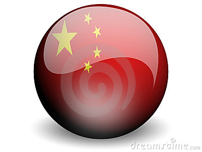 Round Flag of China