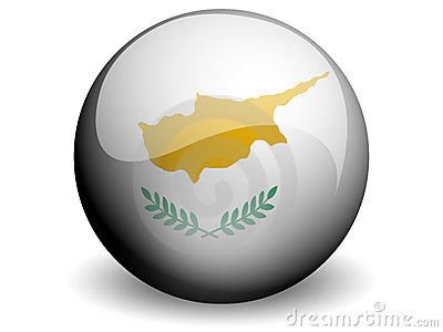Round Flag of Cyprus