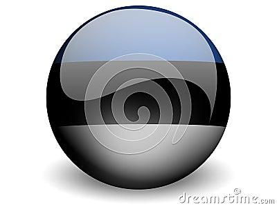 Round Flag of Estonia