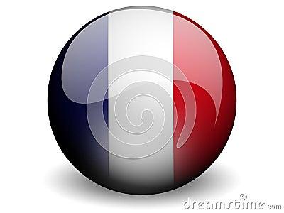 Round Flag of France