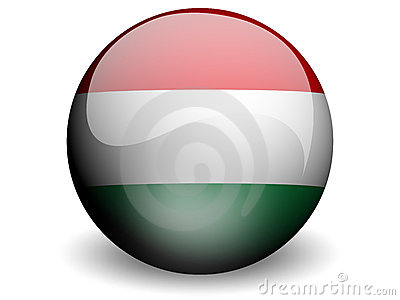 Round Flag of Hungary