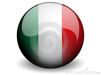 Round Flag of Italy