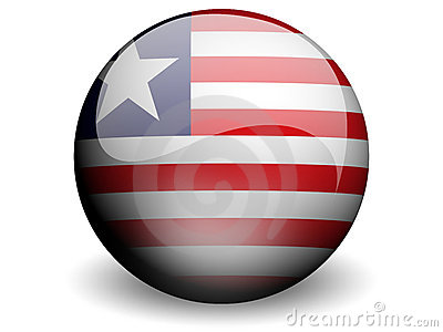 Round Flag of Liberia